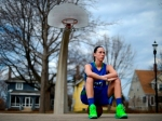 Green Bay Notre Dame's Allison LeClaire is the Press-Gazette Media's girls basketball player of the year. LeClaire is shown at St. James Park in Green Bay on Friday, April 11, 2014. Evan Siegle/Press-Gazette Media