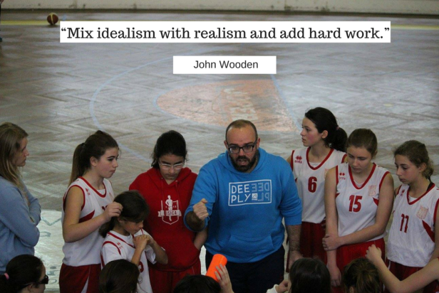"""Mix idealism with realism and add hard work."""